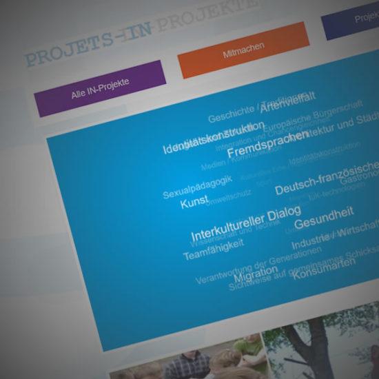 IN-Projekte Website