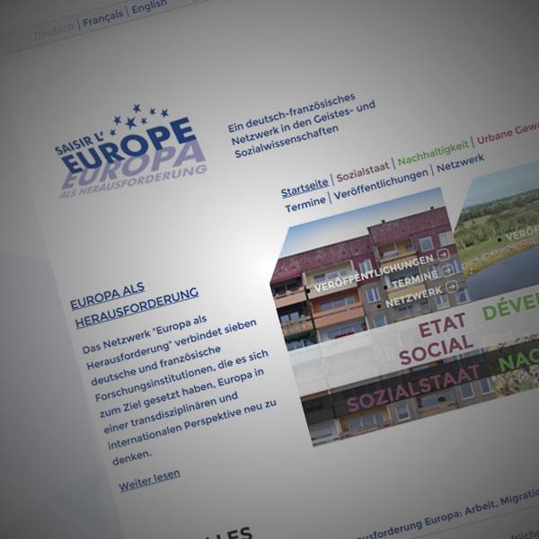 Europa als Herausforderung Website